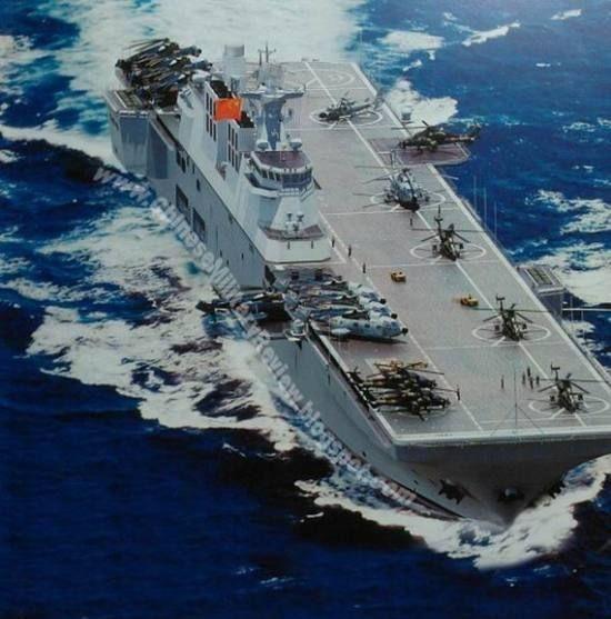 [视频]曝中国航母编队想象图 081型攻击舰亮相