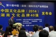 中国文化品牌蓝皮书《中国文化品牌发展报告(2014)》暨《湖南文化品牌40强》发布会