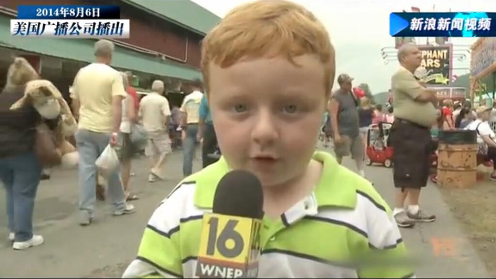 [视频]5岁男孩街头采访用卖萌征服全美
