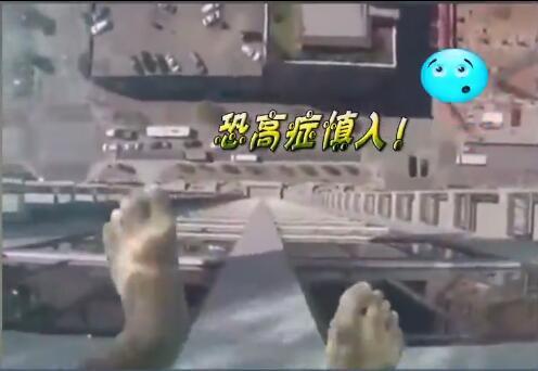 [视频]看着腿抖!高空游泳池 玻璃做池底