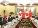 [视频]习近平会见加拿大总理