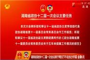 [奋斗吧 新湖南]湖南省政协十二届一次会议将于明天下午在长沙开幕 会期6天