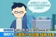 [视频]央行新规:改进银行账户分类