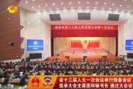 省十三届人大一次会议举行预备会议 选举大会主席团和秘书长 通过大会议程 杜家毫主持