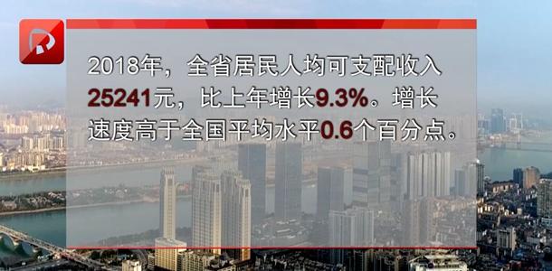 2018年湖南省居民人均可支配收入25241元