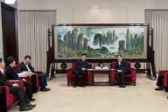杜家毫与交通银行党委书记、董事长彭纯座谈